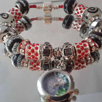 African Grey Parrot Watch - Themed European Style Bracelet