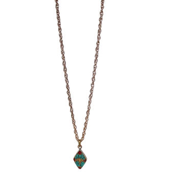 Turquoise Eyes of Buddha Necklace