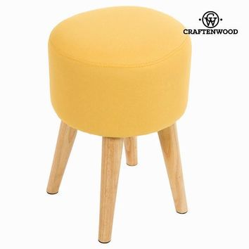 Sixty round stool ochre - Love Sixty Collection by Craften Wood