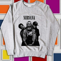KemisJumeat Design Sweatshirt Nirvana - Legend Rock Band US Nirvana Lead Singer screenprint