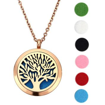 Aromatherapy Pendant and Necklace with Tree of Life Design
