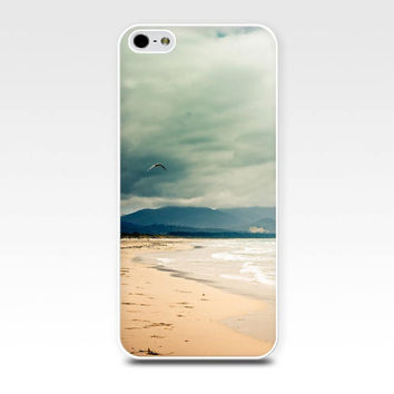 iphone 4 4s case nautical beach scene birds in flight photography 5 case fine art photo case cover cell phone iphone 5 mint green pastel