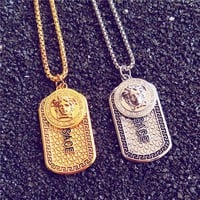 Versace Women Jewelry Medusa Logo Hip-Hop Necklace
