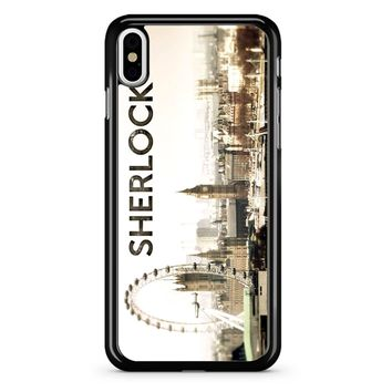 Sherlock Holmes Wallpaper iPhone X Case
