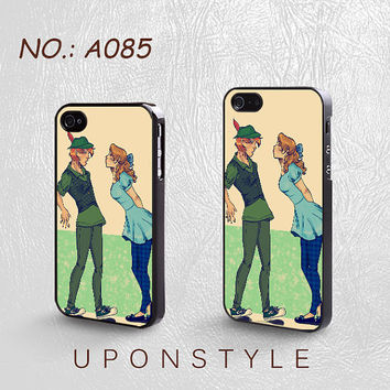 Phone Cases, iPhone 5 Case, iPhone 5s Case, iPhone 4 Case, iPhone 4s case, Peter pan and wendy, iPhone Case, Case for iphone, Case No-085