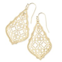 Kendra Scott Addie Gold Filigree Drop Earrings