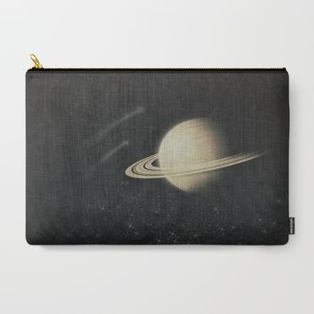 Deep Black Space Carry-All Pouch by Ducky B