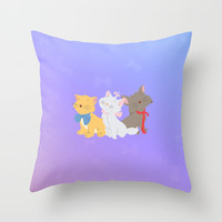 three aristocats..  Throw Pillow by studiomarshallarts