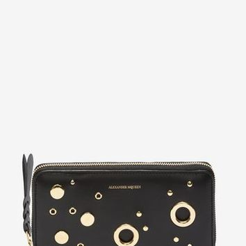 Eyelet And Stud Zip Around Wallet | Alexander McQueen