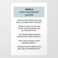 Stoic Philosophy Quote - SENECA Art Print by Love from Sophie