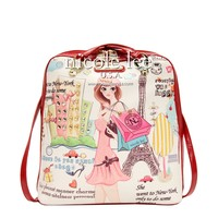 SHOPPING GIRL PRINT BACKPACK PURSE - NEW ARRIVALS