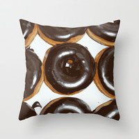 Donut Throw Pillow by Kelly Sweet
