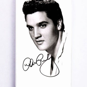 iPhone 5 Case - Rubber (TPU) Cover with Celebrities Elvis Presley Rubber Case Design