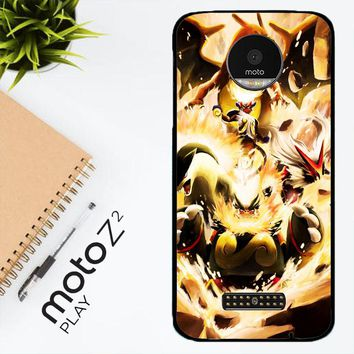 Pokemon Charizard Infernape Z0656 Motorola Moto Z2 Play Case