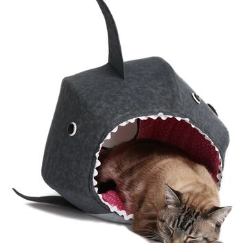 Cat Ball Great White Shark Cat Bed | Nordstrom