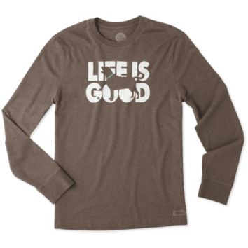 Men's Fetch Life Is Good Long Sleeve Crusher Tee