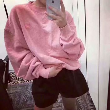 Acne Studios Couple Casual Letter Print Long Sleeve Sweatshirt Top Sweater I-AGG-CZDL One-nice™