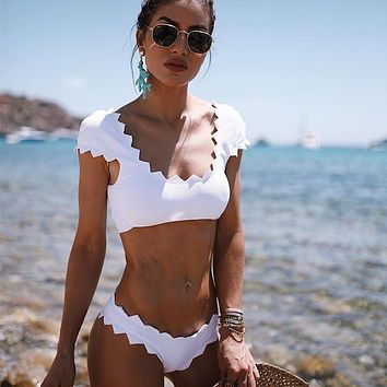 White Bikini Swimwear Bathing Suit