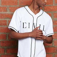 Civil Home Team Rebel Flag Baseball Jersey