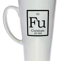 Element Fu - Cursium Fake Periodic Table Chemistry Elements, Latte Size