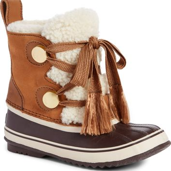 SOREL x Chloé Genuine Shearling Trim Waterproof Boot (Women) | Nordstrom