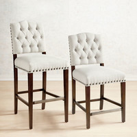 Jayden Flax Tufted Counter & Barstool