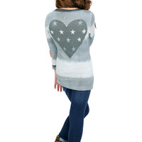 Dirtee Hollywood Gray Love Long Sleeve Top | Mod Angel