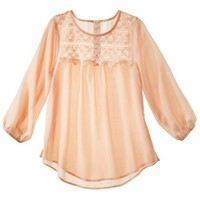 Xhilaration® Juniors Romantic Crochet Top - Assorted Colors