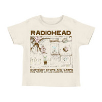 Radiohead Boys' Colored In Drawing Childrens T-shirt White