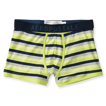 Striped Knit Trunks