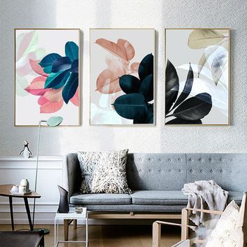 Nordic Poster Plants Leaf Picture Art Print Wall Pictures For Living Room Wall Art Canvas Painting Posters And Prints Unframed