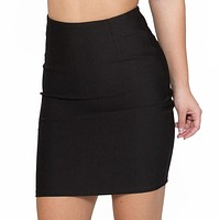 All Business High Waist Black Pencil Skirt