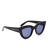Black BCBG Novelty Cat-Eye Sunglasses