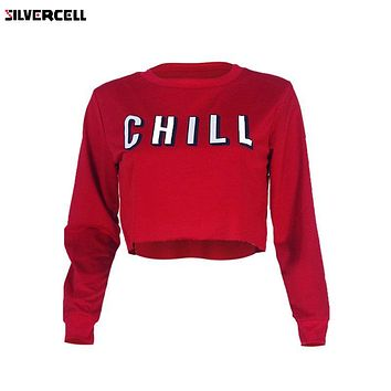 Chill!  Sexy Casual Short-Cropped Sweatshirt