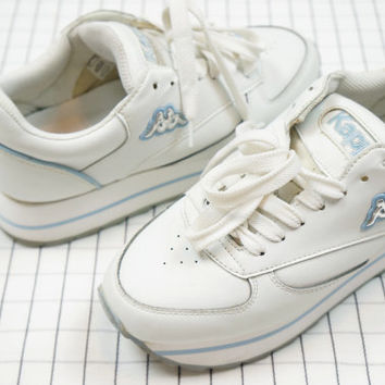 90's Kappa Platform Sneakers,  Spicy Girl, 90's Sneakers, Vapor Wave, Aesthetic, Tumblr
