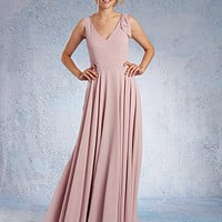 Alfred Angelo Long Chiffon Bridesmaid Dress 7331L