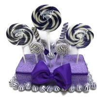 Purple Lollipop Centerpiece, Violet, Purple, Candy, Centerpiece, Lollipop Centerpiece, Wedding, Baby Shower, Birthday, Candy Buffet