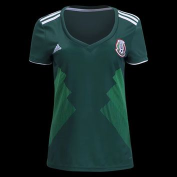 KUYOU Mexico 2018 World Cup Home Women Soccer Jersey Personalized Name and Number