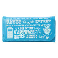 Doctor Who Wibbly Wobbly Timey Wimey Flap Wallet
