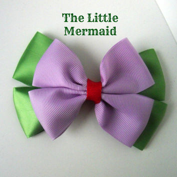 The Little Mermaid Ariel Bow by littlebowchicdesigns on Etsy