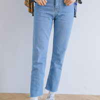 Straight-Cut High-Rise Jeans