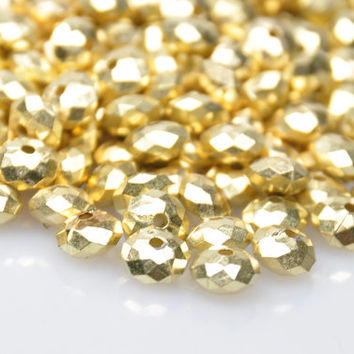 100 Pieces Matte Gold Mini Spacer Beads, Gold Bead Spacers, Jewelry Findings, Jewelry Making Supply