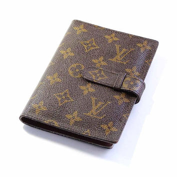Vintage LOUIS VUITTON Monogram Canvas Photo Album Travel Wallet Brag Book Desk Couture Accessory Card Holder Leather Lined Paris France LV