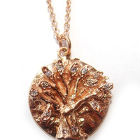 Jewelry by Atlantis - Rose Gold Diamond Tree of Life