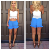 South Beach Shorts With Pockets - BLUE