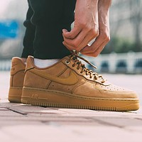 Nike Air Force 1 AF1 Classic Fashion Women Men Casual Sport Shoes Sneakers Brown
