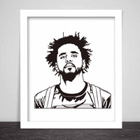 J. Cole Art Poster (3 sizes) // Jcole dreamville coleworld