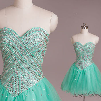 Ball gown beading party dress,party dresses,sexy party dresses,beading party dresses,short prom dresses,prom dresses,short evening dress