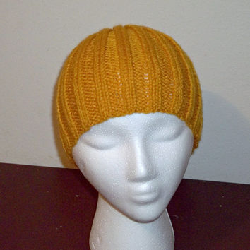 Golden Yellow Knit Hat