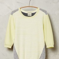 Colorblocked Honeycomb Pullover by Maison Scotch Yellow